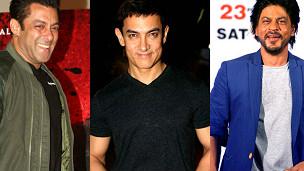 आमिर ख़ान, शाहरुख़ ख़ान, सलमान ख़ान