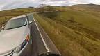 Imagens feitas por Jack Sanderson de seu acidente de moto. Foto: BBC