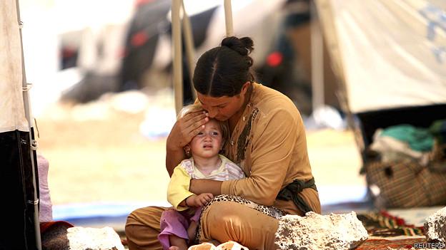 Refugiada en Irak