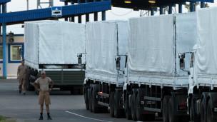 российские грузовики на таможне