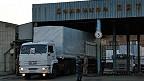 Camión ruso en la frontera con Ucrania