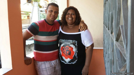 Caio e Denize Moraes da Silva   Crédito: Arquivo pessoal