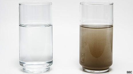 Agua limpia y sucia