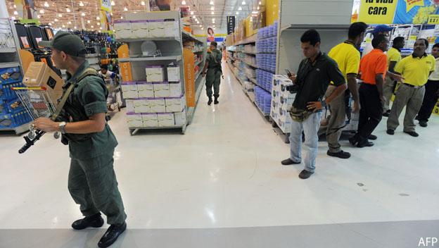 Guardia Nacional en supermercado
