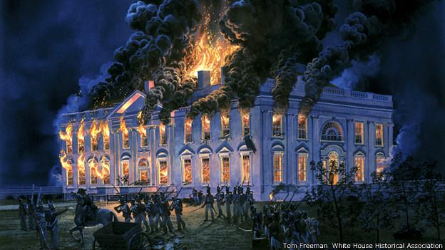 The Burning of the White House. Tom Freeman (2004), © White House Historical Association
