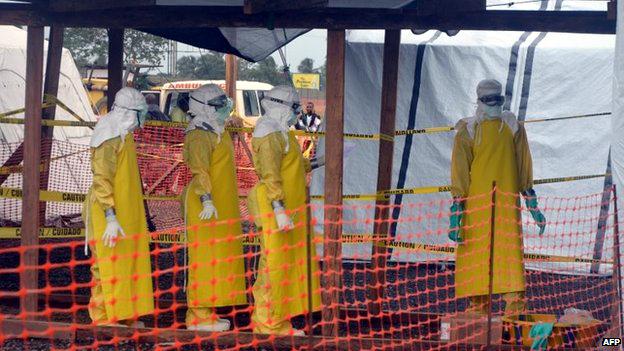 انتشار مرض فيروس ايبولا في غرب افريقيا