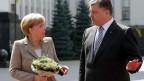 Chanceler Merkel e presidente Poroshenko