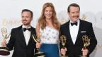 Actors Aaron Paul, Anna Gunn andBryan Cranston,