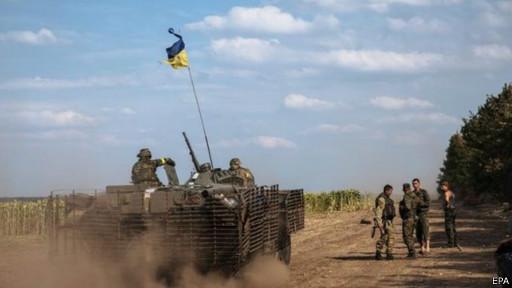 Forças ucranianas (EPA)