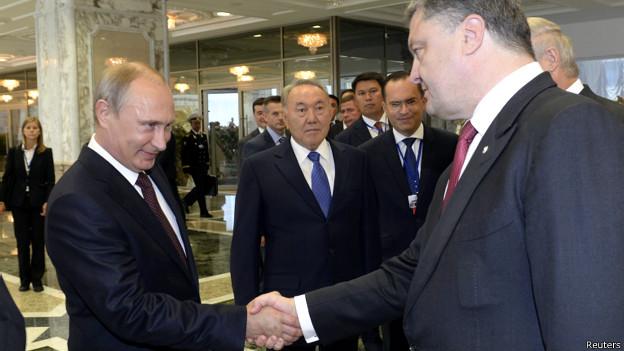 Путин и Порошенко в Минске