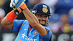 India batsman Suresh Raina cover drives a ball to the boundary during the 2nd Royal London One Day International match between England and India at SWALEC Stadium on August 27, 2014 in Cardiff, Wales