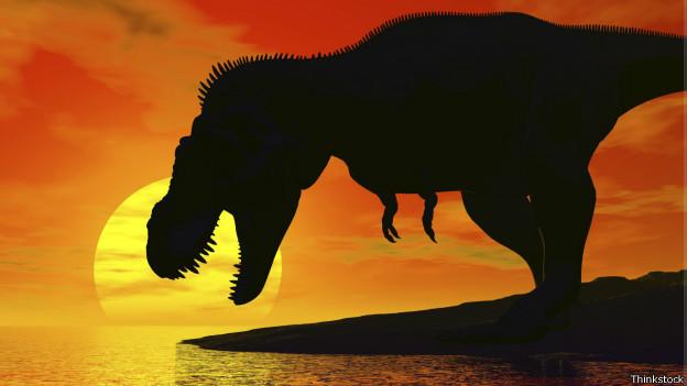 Silueta de un Tyrannosaurio rex