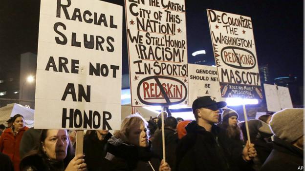 protesta del nombre de los Redskins