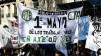 Marcha sindical en Buenos Aires, el miércoles