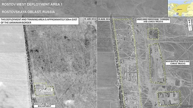 Обнародованные НАТО спутниковые снимки