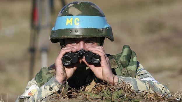 Soldado pacificador ruso en Abjasia, 2007