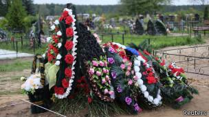 Могила российского десантника под Псковом