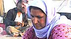 Mujer de la minoría yazidí en un campamento de refugiados en Kurdistán