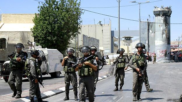 Tropas israelíes en Belén
