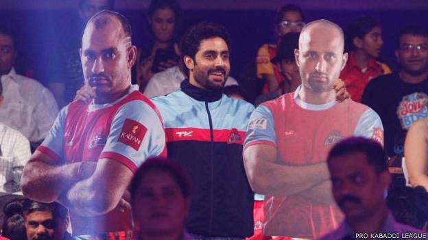 प्रो कबड्डी लीग का फाइनल मैच में अभिषेक बच्चन