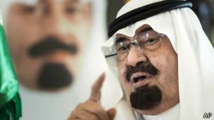 Rey de Arabia Saudita, Abdalá (foto de archivo)