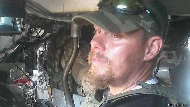 Микаэль Скилт, швед и доброволец в составе батальона