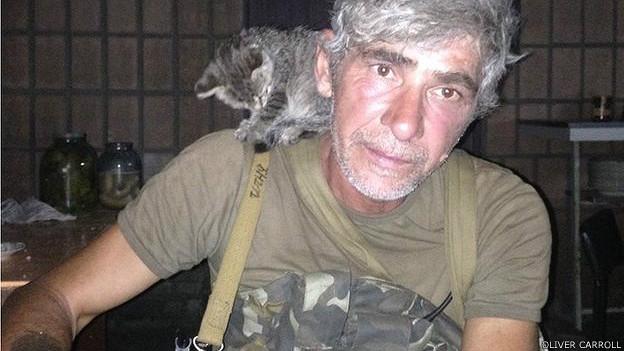 Чеченец Руслан Арсаев сражается