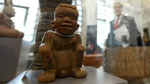 Pieza arqueologica colombiana