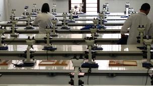 Laboratório da Faculdade Anhanguera (Foto BBC)