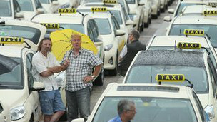 Protesta de taxistas en Alemania