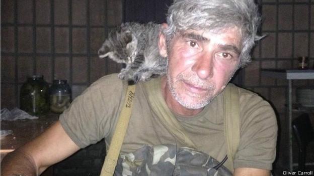 Soldado checheno Ruslan Arsayev
