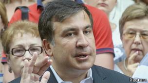 Михаил Саакашвили во Львове 8 августа 2014 года