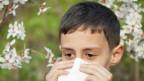 Niño estornudando