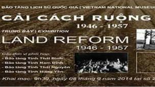 """Ảnh giới thiệu Triển lãm """"Cải cách ruộng đất 1946-1957"""" tại Bảo tàng Lịch sử Quốc gia, Hà Nội"""