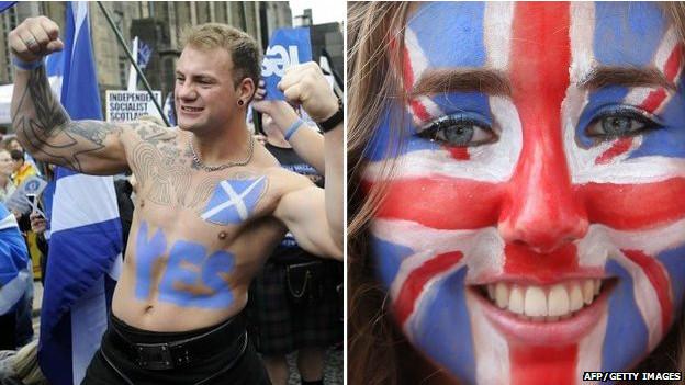 Seguidores y oponentes a la independencia de Escocia