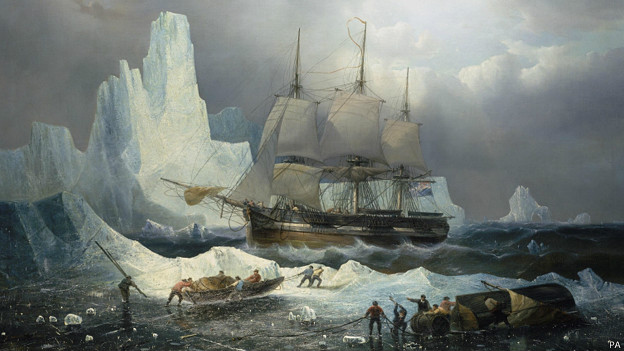 Cuadro del Erebus, colección del Museo Marítimo de Londres