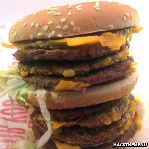 "Hamburguesa ""monstruo"" de McDonald"