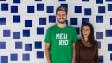 Alessandra Orofino, co-fundadora do Meu Rio, e Miguel Lago / Crédito: Arquivo Pessoal
