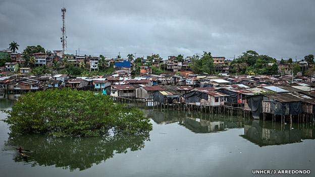 Barrios de baja mar en Buenaventura. Foto: UNHCR/J.Arredondo