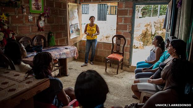 Mariza Asprilla, del colectivo de mujeres Mariposas de Alas Nuevas de Buenaventura. Foto: UNHCR/J.Arredondo