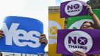 蘇格蘭獨立公投前最後的宣傳攻勢