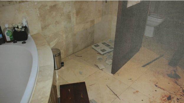 Baño en casa de Oscar Pistorious
