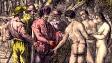 Circa 1518, Hernán Cortés dialoga con nativos de América. Archivo Hulton. Foto: Getty