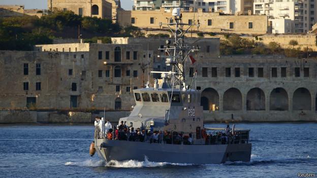 Barco en Malta
