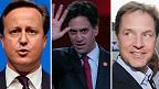 Cameron, Miliband, Clegg