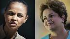 Marina Silva y Dilma Rousseff