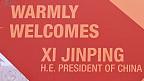 Sambutan untuk Xi Jinping di India