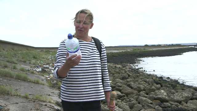 Nicola White searching for messages in bottles