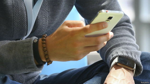 Usuario de un celular