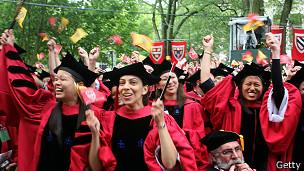 Estudiantes en graduación